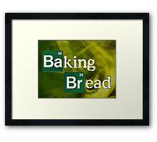 Baking Bread Framed Print