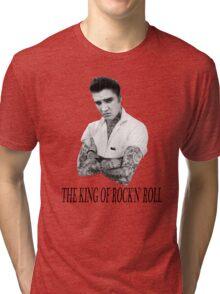 Elvis Presley Tattoo Rockabilly Vintage Tri-blend T-Shirt