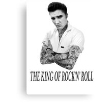 Elvis Presley Tattoo Rockabilly Vintage Canvas Print