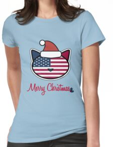 Merry Christmas U.S.A. Womens Fitted T-Shirt