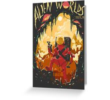 Alien Worlds Greeting Card