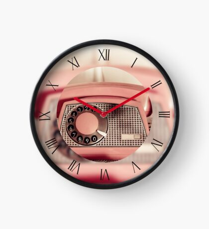 Retro rotary dial old phone Clock