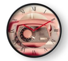 Retro rotary dial old phone Clock