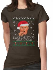 Make christmas great again Womens Fitted T-Shirt