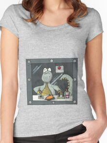 dinosaur in disguise  Women's Fitted Scoop T-Shirt