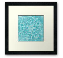 Blue waves Framed Print