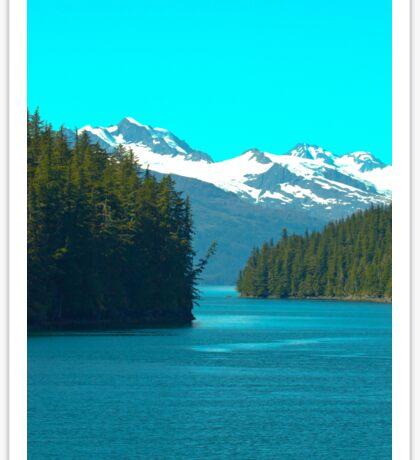 Blue Mountain View- Alaska  Sticker