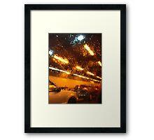 Boston Rain Framed Print