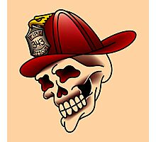Traditional firefighter skull design Photographic Print