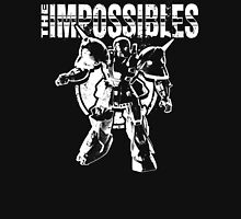 The Impossibles Logo w/ Robot - White Men's Baseball ¾ T-Shirt