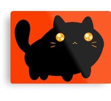 Silly Black Cat Metal Print