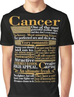 CANCER HOROSCOPE ZODIAC BIRTHDAY GIFT WAS BORN IN JULY Graphic T-Shirt