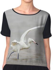 Reddish Egret Wading in Gulf Chiffon Top