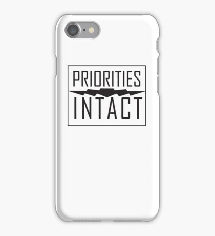 Priorities Intact Records Logo - Black iPhone Case/Skin