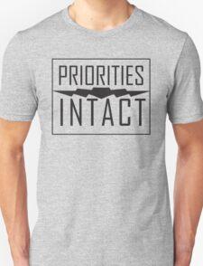 Priorities Intact Records Logo - Black T-Shirt