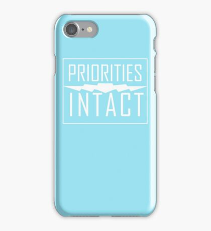 Priorities Intact Records Logo - White iPhone Case/Skin