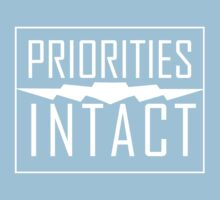 Priorities Intact Records Logo - White T-Shirt