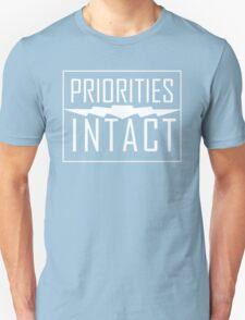 Priorities Intact Records Logo - White T-Shirt