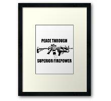 PEACE | M4 Framed Print