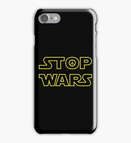 ST☮P WARS - Yellow/Dark Parody Design with Peace Sign iPhone Case/Skin