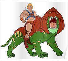 He-man and BattleCat Filmation Style Poster