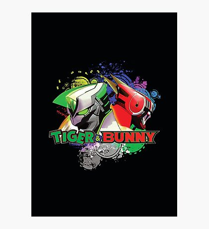 Tiger and bunny helmet Photographic Print