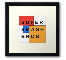 Super Smash Bros. Mondrian Framed Print