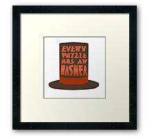 Every Puzzle Has An Answer Framed Print