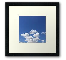 A Cape Town Sky with Clouds Framed Print