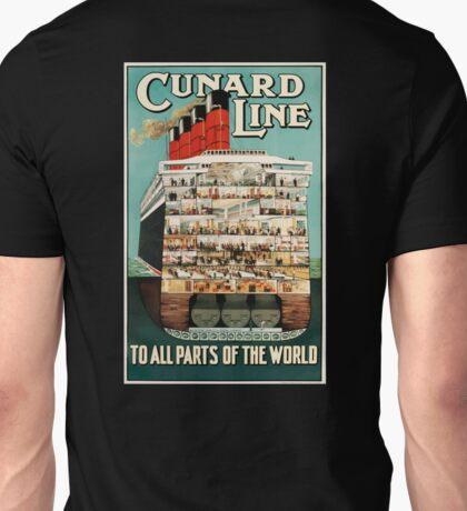 Vintage, Cruise, Ship, CUNARD, POSTER, Unisex T-Shirt