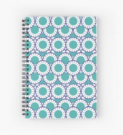 Cerulean doillie pattern Spiral Notebook