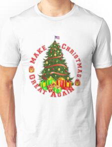 Make Christmas Great Again Trump Green Red Yellow and Gold T-Shirt Unisex T-Shirt