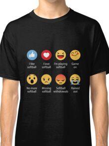 I Love Softball Emoji Emoticon Classic T-Shirt