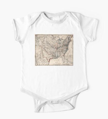 United States - Map including Louisiana - 1818 One Piece - Short Sleeve