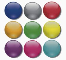 Balls, Coloured, Marbles, bright, colourful,  Kids Tee