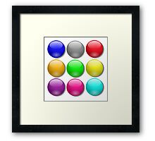 Balls, Coloured, Marbles, bright, colourful,  Framed Print