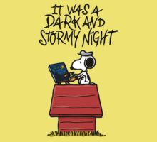 It Was a Dark and Stormy Night Kids Tee