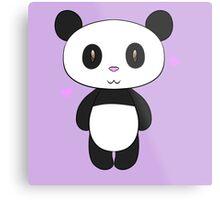 Chibi Panda Metal Print