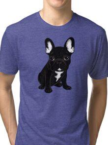 Brindle French Bulldog  Tri-blend T-Shirt