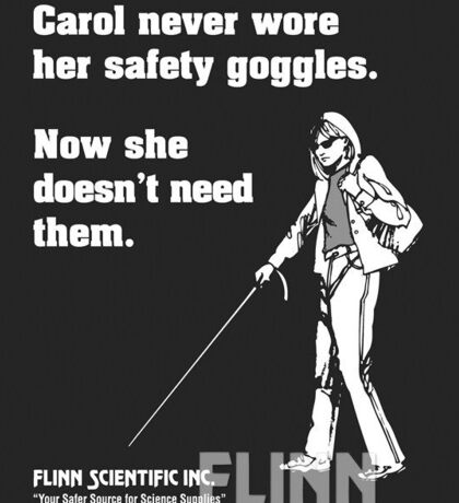 Carol Never Wore Safety Goggles Sticker