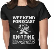 Weekend Forecast Knitting Womens Fitted T-Shirt