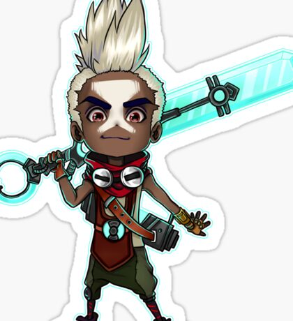 Ekko - Chibi Sticker - League Sticker