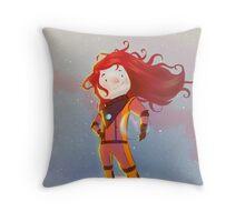 The Girl Wonder Throw Pillow