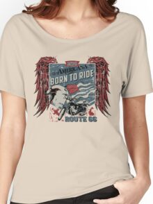 Born To Ride - Motorcycle Stickers and T-shirts Women's Relaxed Fit T-Shirt