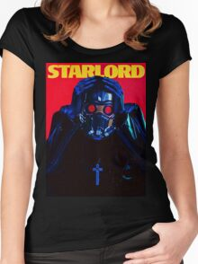 Starboy....I mean StarLord... Women's Fitted Scoop T-Shirt