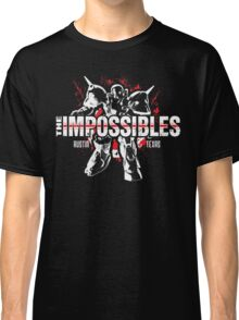 The Impossibles Logo w/ Robot - White and Red Classic T-Shirt