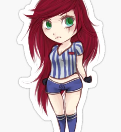 Red Card Katarina - Sticker League Sticker