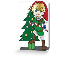 Christmas Link Legend of zelda Greeting Card