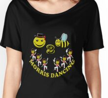 happy 2 bee morris dancing Women's Relaxed Fit T-Shirt