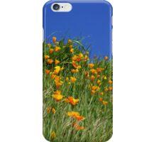 Poppy Flowers Meadow Blue Sky Green Hillside Art iPhone Case/Skin